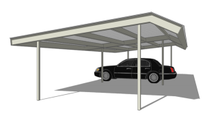 Carport Single Mansard