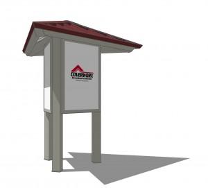 Kiosk 3 Post Triangle