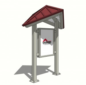 Kiosk Bent Diamond