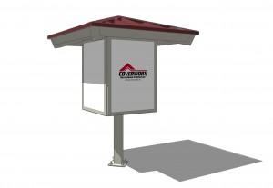 Kiosk Single Post Square