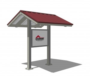 Kiosk Two Post Gable