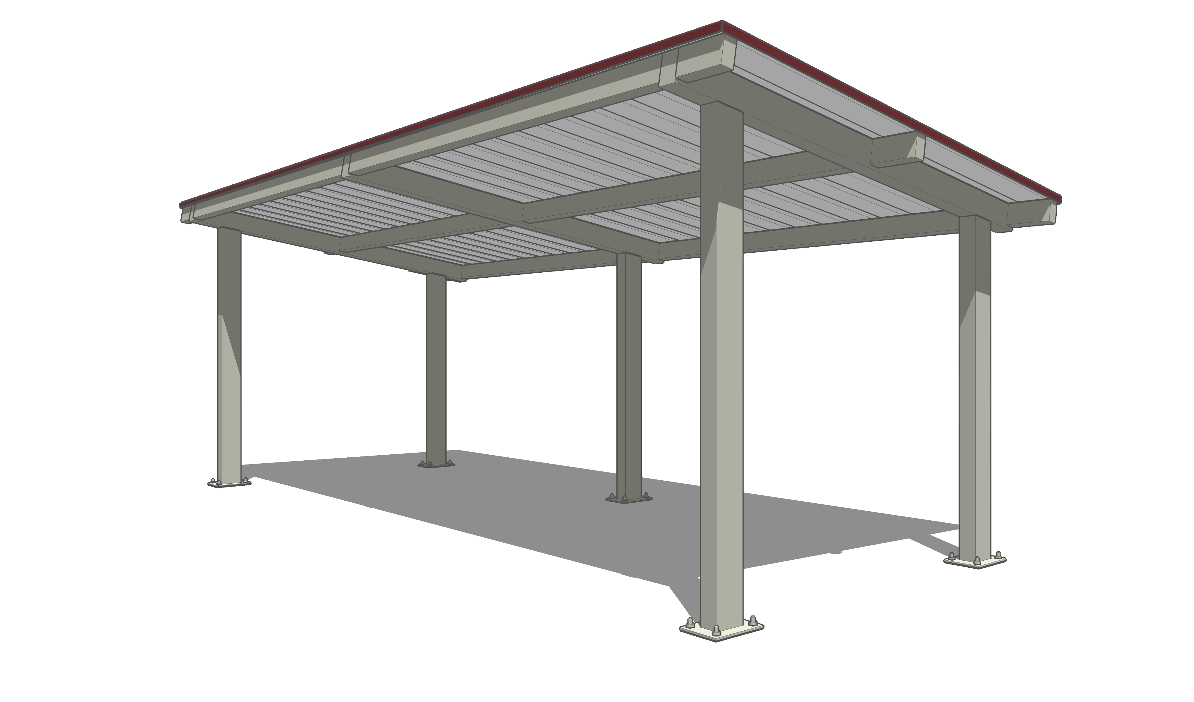 Item item 2875622 as well Pdf Flat Roof Carport Construction Diy Free Plans Download Wood Lathe Duplicator Attachment further Floating Decks besides 18x24 Foot Timber Frame Pavilion Plan further Steelworx Cantilevered Monoslopes Dugouts. on large pergola plans free