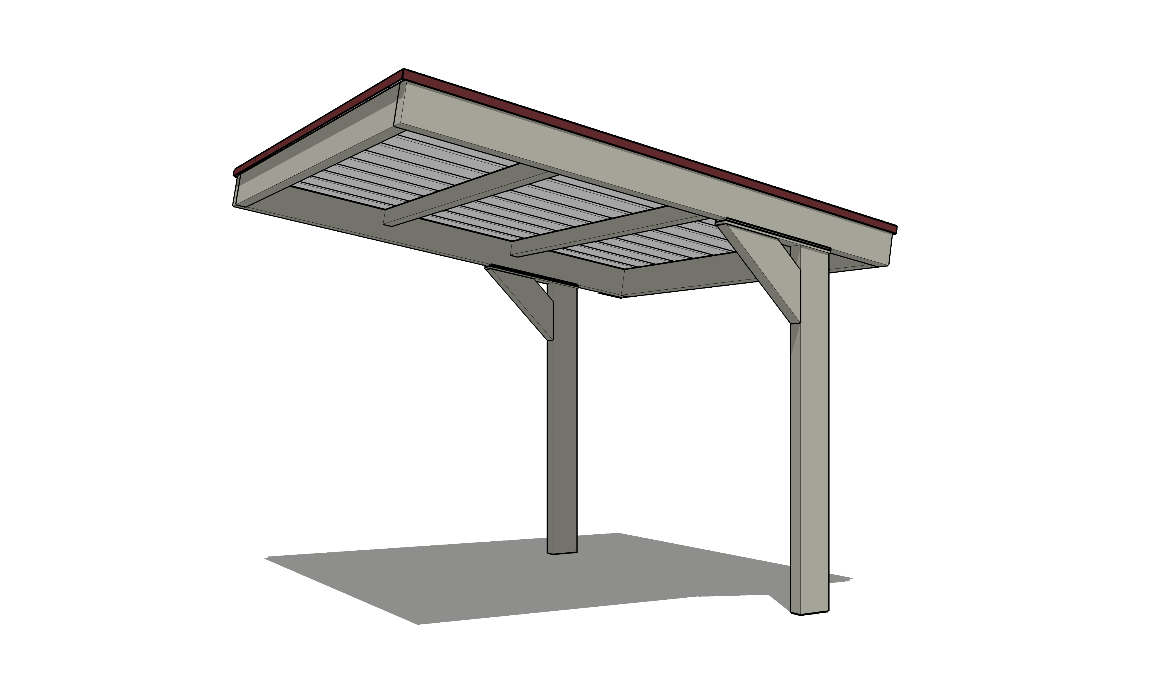 Angled Roof Steelworx Cantilevered Monoslopes Amp Dugouts Coverworx