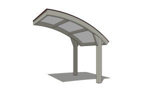 Monoslope Curved Cantilever
