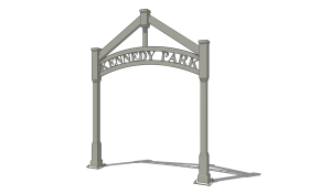 Trellis Entrance Sign