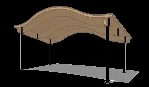 Wood Gable Wave